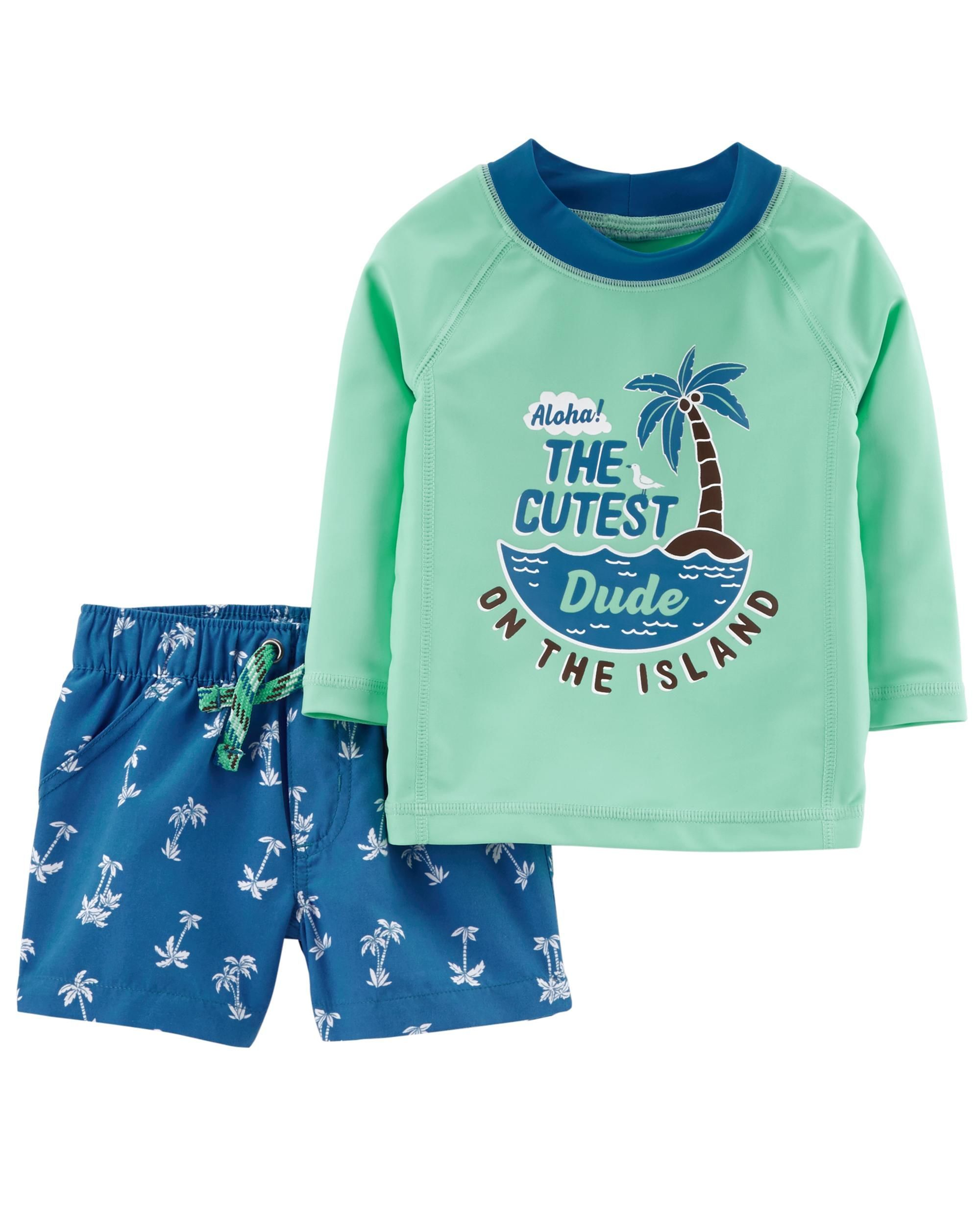 9996fe939 He s beach-ready in this 2-piece set