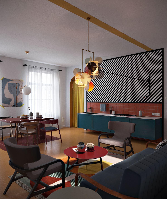 Corb On Behance  Living Room  Pinterest  Behance Interiors And Inspiration Living Room Showcase Design 2018