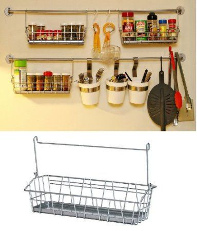 Amazon Com Ikea Steel Wire Basket Spice Rack Hang Or Free