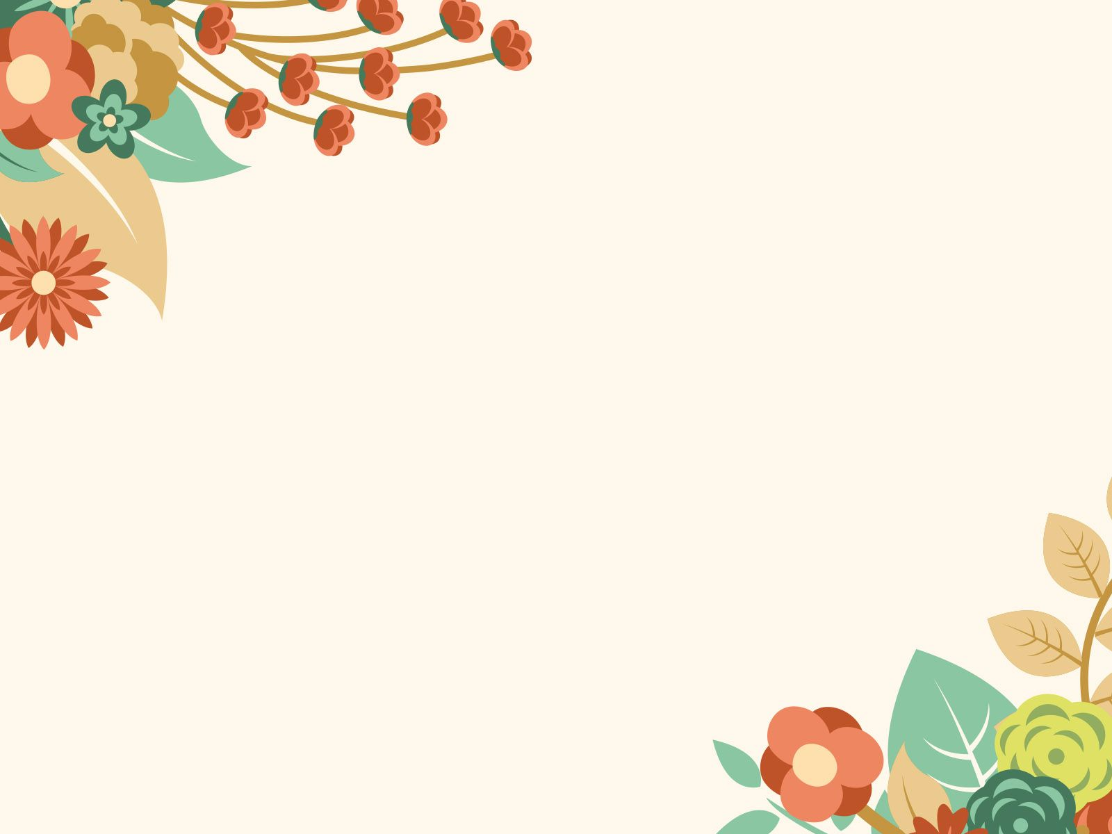 Free Orange Floral Summer powerpoint template is a other nice – Summer Powerpoint Template