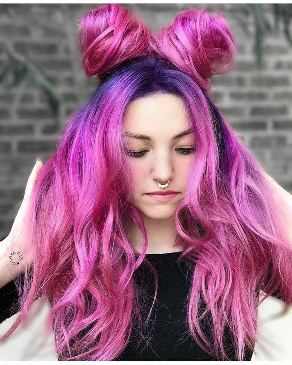 beauty fantasy unicorn purple violet red cherry pink yellow