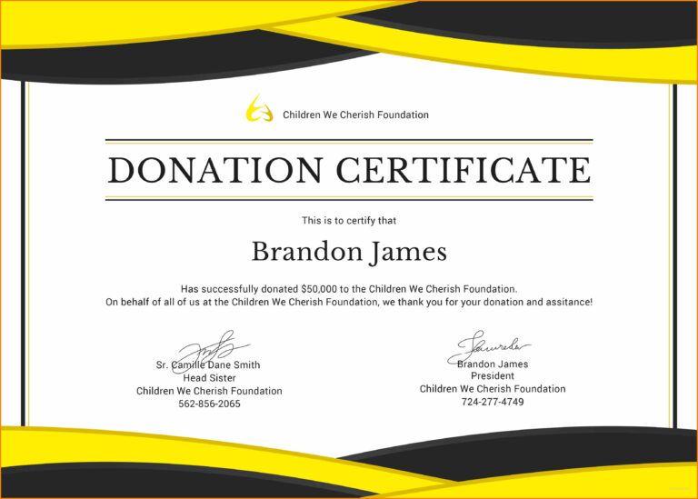 5 Donation Certificate Template Instinctual Intelligence Within Donation Certifi Certificate Templates Gift Certificate Template Certificate Design Template