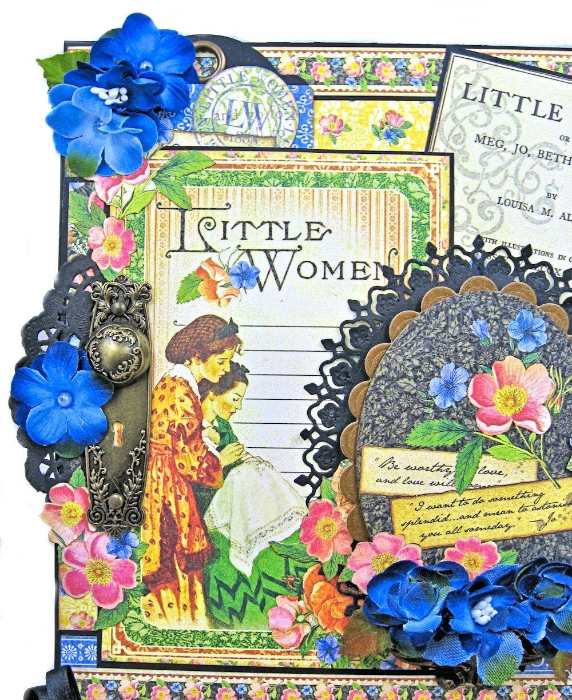 Little Women 8x8 Interactive Easel Card Tips Mat images