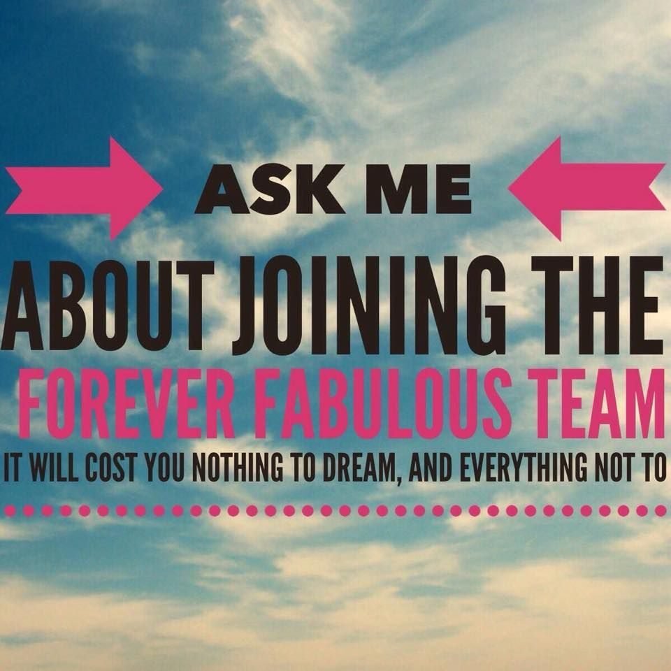 Join my team! Search Portia's Forever Living on Facebook