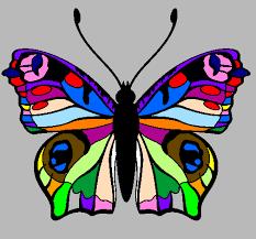 Risultati immagini per disegni di farfalle colorate da for Immagini di pareti colorate
