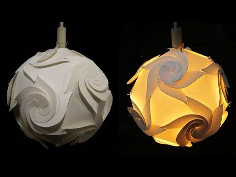 Awesome DIY Paper Lampshade (cyclone)  Learn How To Make A Paper Lamp/lantern