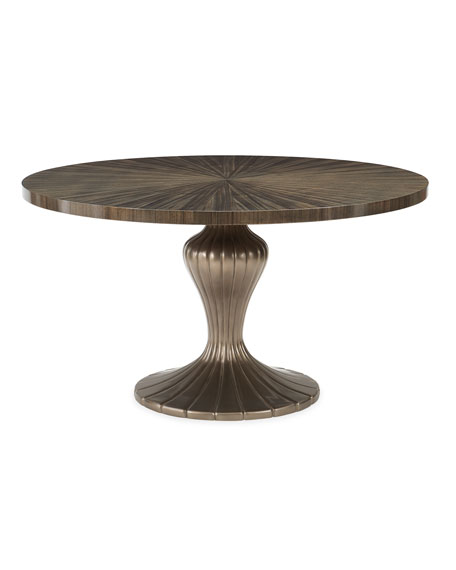 Caracole Round Table Discussion Dining Table Round Dinning Table Dining Table Traditional Chairs