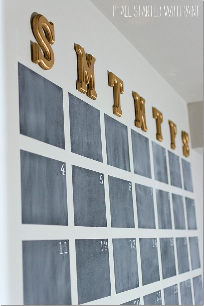 Chalkboard Wall Calendar Diy  Food Trends Chalkboard Wall