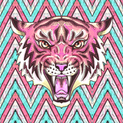 Wallpaper pink tiger chevron #pinkchevronwallpaper #pinkchevronwallpaper