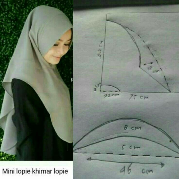 Hijab Praktis Jahit Kain Tule Menjahit