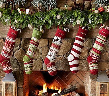 Classic Fair Isle Stocking Collection | Noël/Chez soi | Pinterest ...