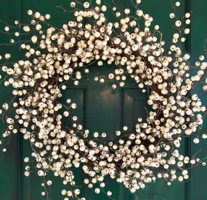 Front Door Wreaths For All Seasons White Winterberry Wreath A Refresh