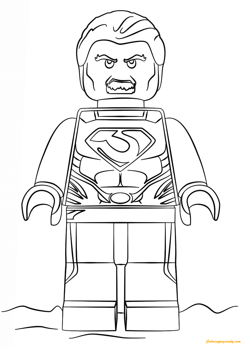 Ausmalbilder Playmobil Top Agents : Lego Super Heroes Man Of Steel Coloring Page Http