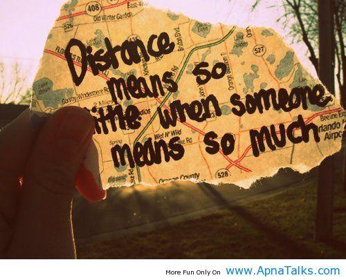 Distance mean so little love quotes - Apna Talks