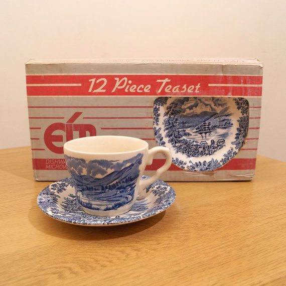 EIT LTD 12 (6+6) pieces tea set || English Ironstone Ltd Stoke-on ...