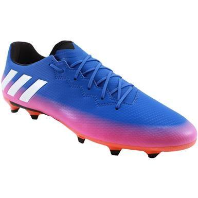 Adidas Messi 16 3 Outdoor Soccer Cleats Mens Blue White Solar Orange Chuteiras