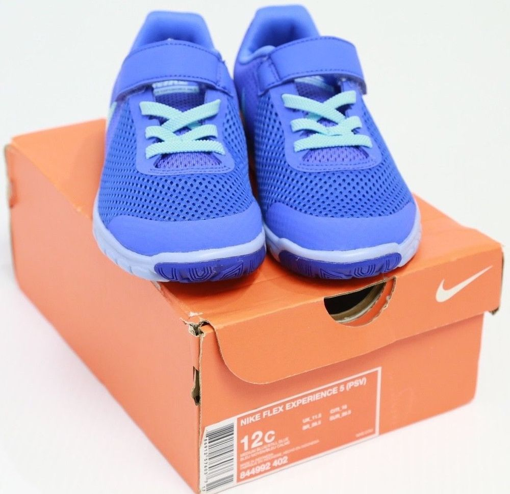 26c9de54ff5 New In Box Kids Nike Flex Experience RN 5 Blue Running Shoes Size 12C  844992 402