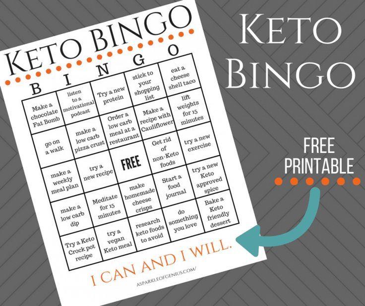 Keto 30 Day Challenge Printable