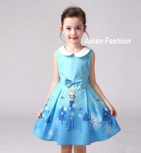 Vestido Frozen Niñas De 3 A 8 Años A Pedido Asianfashion