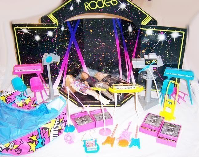 Barbie Rocker Dolls Playset Mid 80 Rock Band Pool Party