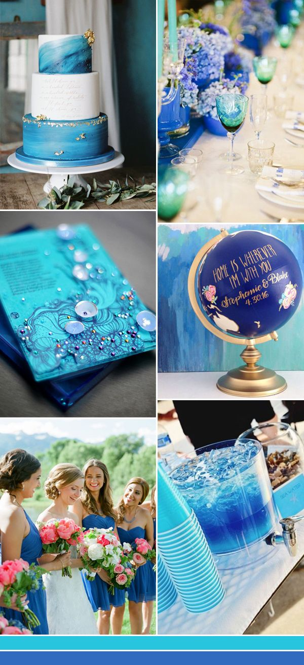 The Best Shades of Blue Wedding Color Ideas for 2017 | Wedding theme  colors, Ocean blue weddings, Blue themed wedding
