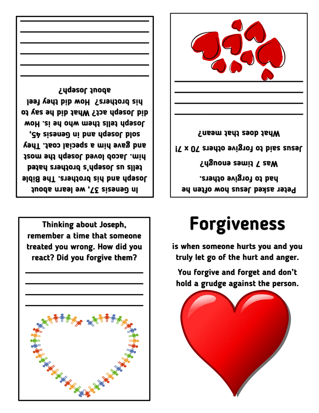 Forgiveness Foldables Amp Worksheets Biblefun