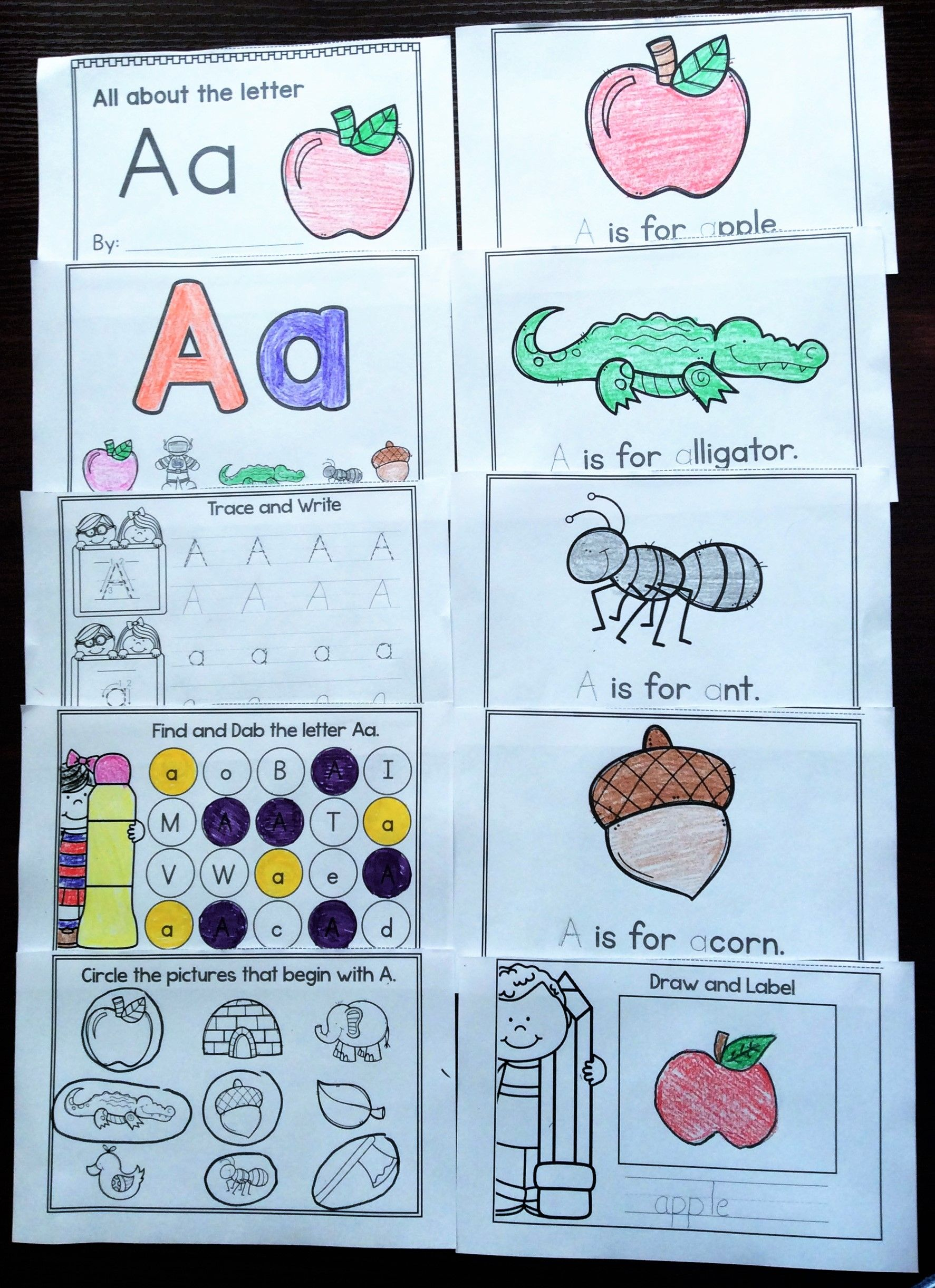 Alphabet Books Printable Alphabet Worksheets A Z Alphabet