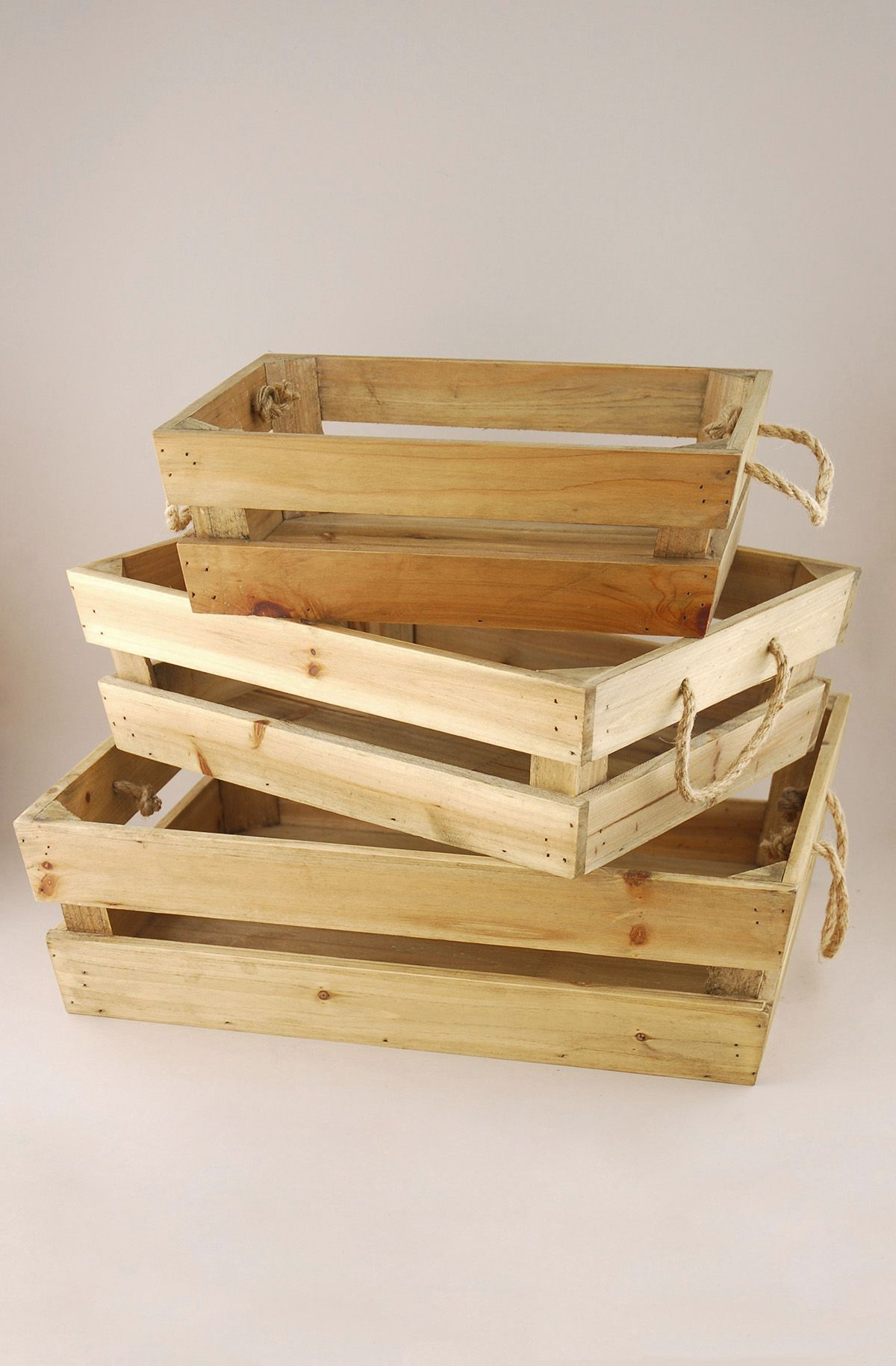Wood Trays Tapered (Set Of 3)