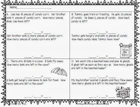 Next Week My Second Graders Will Be Learning About Two Step Word Problems For Subtraction I C Halloween Word Problems Word Problems Subtraction Word Problems