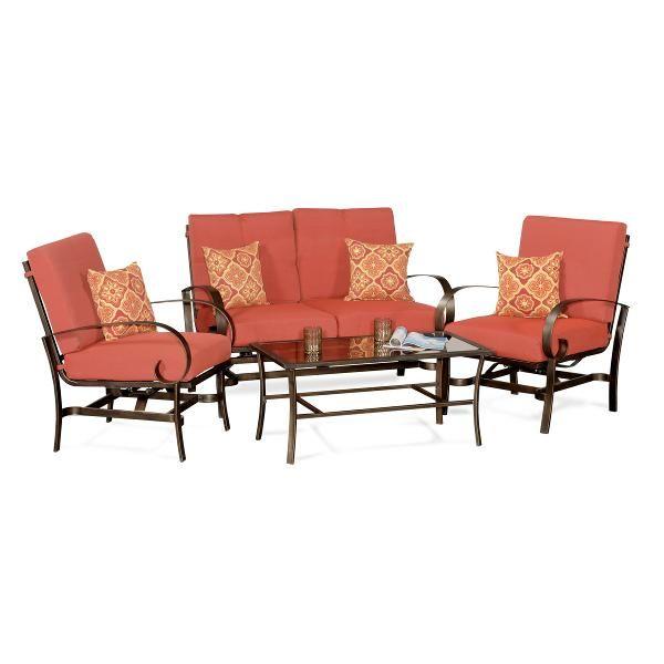 San Marcos 4 Piece Patio Set Patio Set Outdoor Furniture Sets Deep Seating