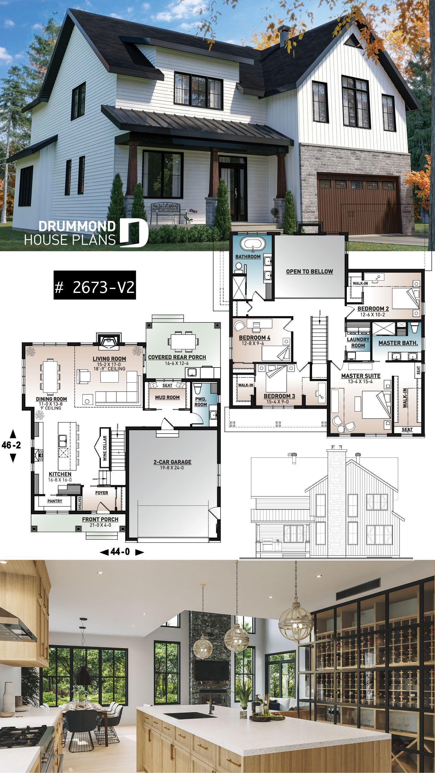 Melhores Dicas De Reforma E Decoracao House Plans Farmhouse House Architecture Design Sims House Design