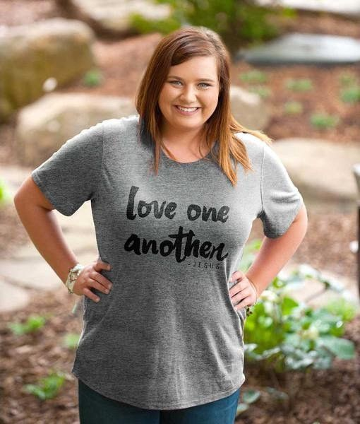 """Love One Another"" Kerusso Grace & Truth Fashion Fit Tee's"