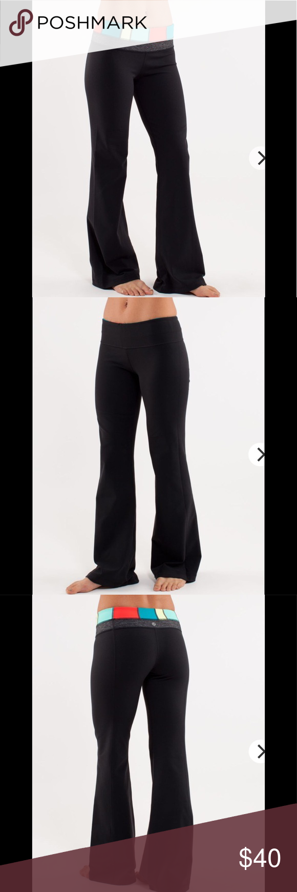 17471a1ac 🎄SALE🎄Lululemon Groove Reversible Yoga Pants Thanksgiving Sale Lululemon  Reversible Groove Black with multi