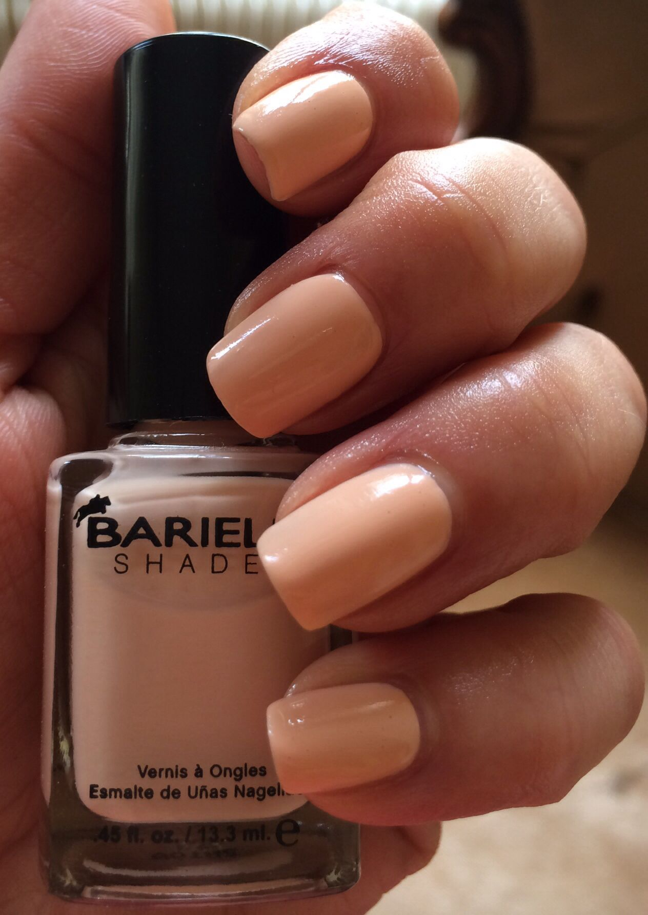 Barielle Uptown girl (3 coats) + Top coat (Nails inc. Caviar Top ...
