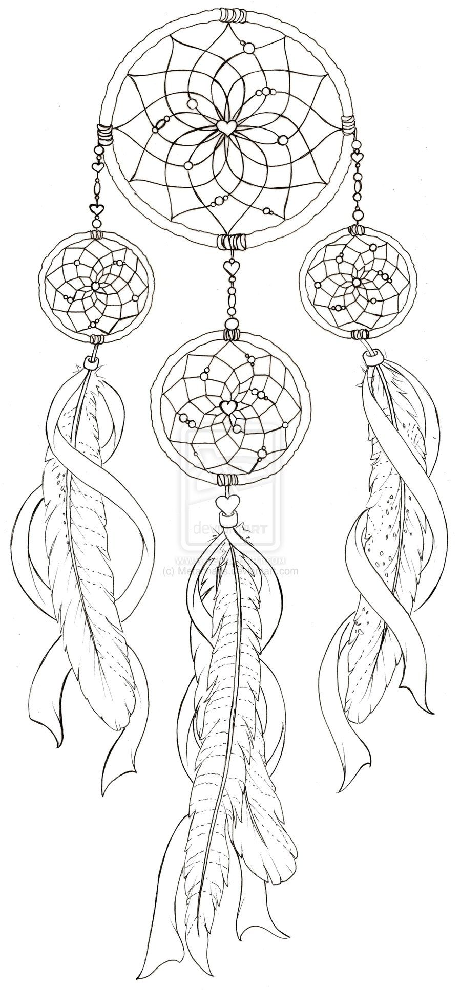Dream Catcher with Pheasant Feather Tattoo by Metacharis on