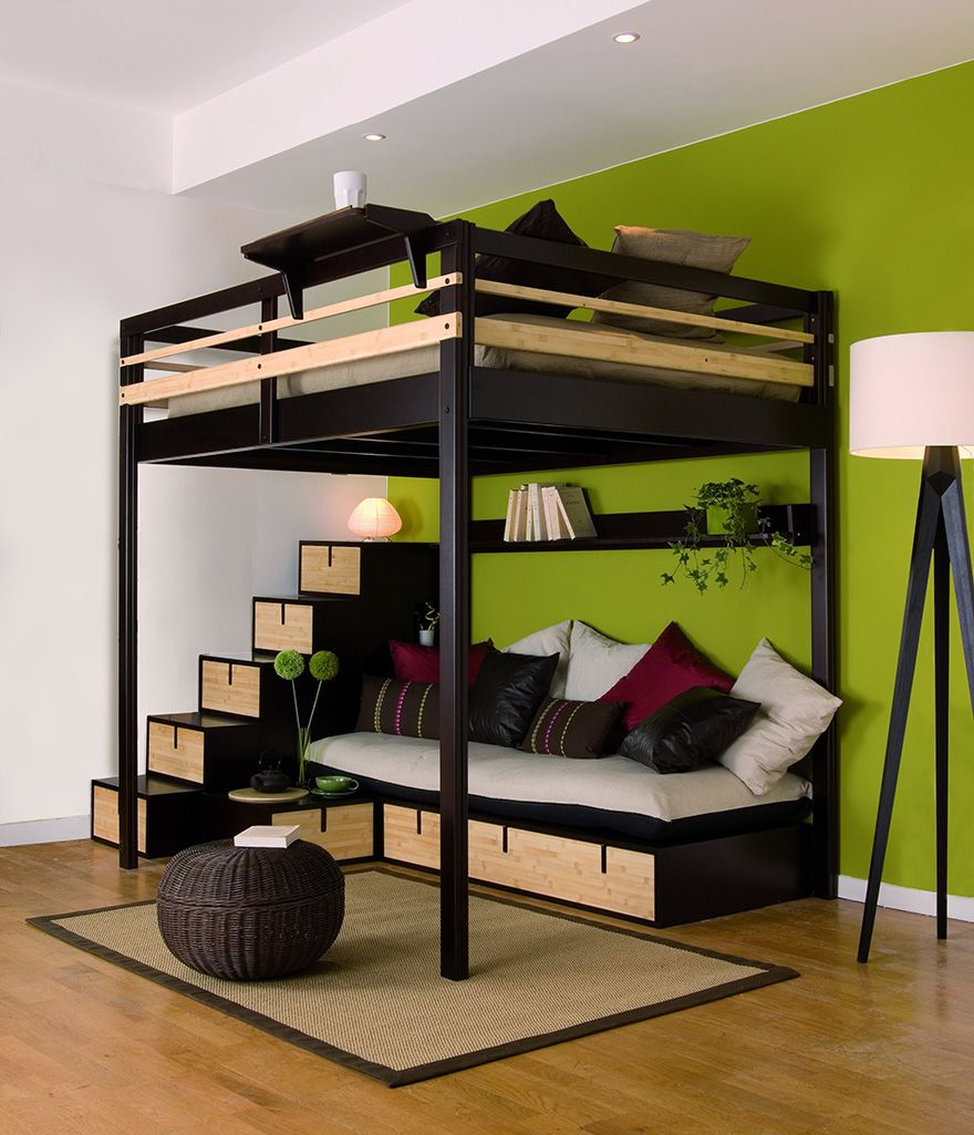 lit mezzanine avec rangement adulte pc94 jornalagora. Black Bedroom Furniture Sets. Home Design Ideas