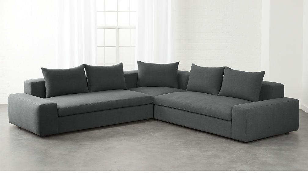 Arlo 3piece iron grey wide arm sectional sofa reviews