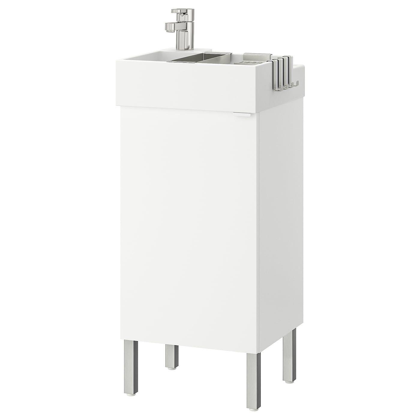 LILLÅNGEN Vanity cabinet with 1 door – white, Ensen faucet -…