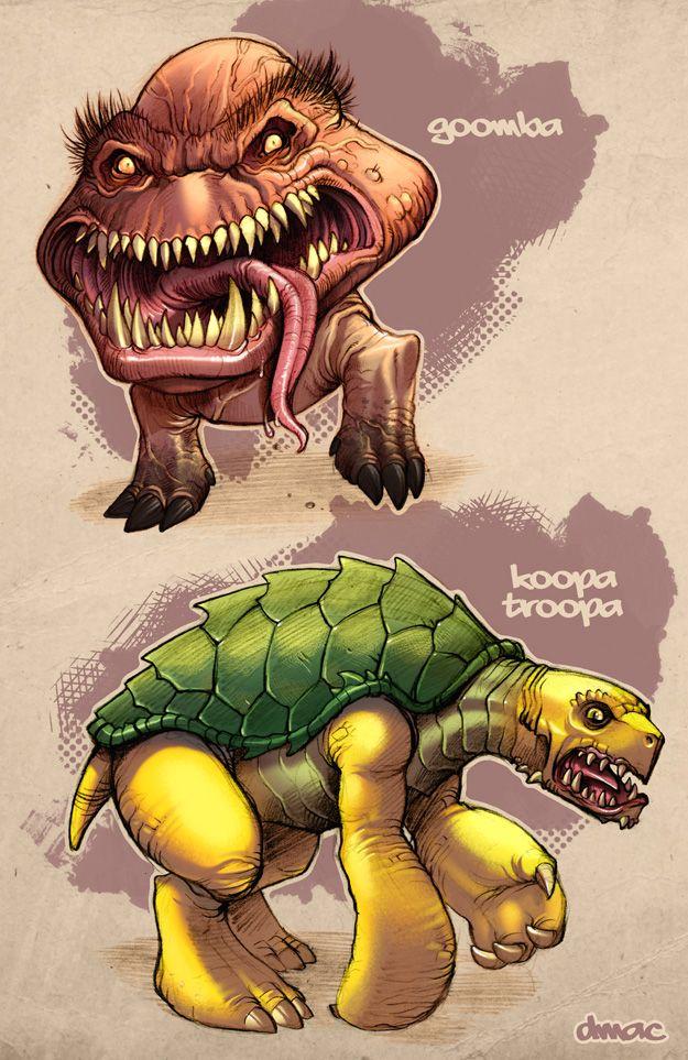 Goomba Koopa Troopa In Color By D Mac Deviantart Com On