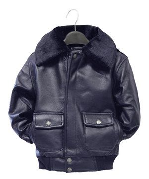 7aac527be Loving this Tanners Avenue Navy Leather Pilot Bomber Jacket - Infant ...
