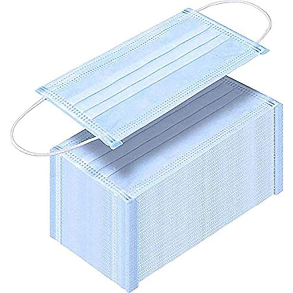 Anti Pollution M-Asks Unisex Protection Fabric Dust Mouth M-Ask Soft /& Comfortable Blue Uscharm 100pcs Disposable 3-Layer FACE M-Asks