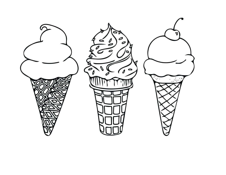 Ice Cream Coloring Pages Printable Collection Sumptuous Design Ideas Ice Cream Coloring Pages Printabl Sorvete Tatuagem Sorvetes Desenho Paginas Para Colorir