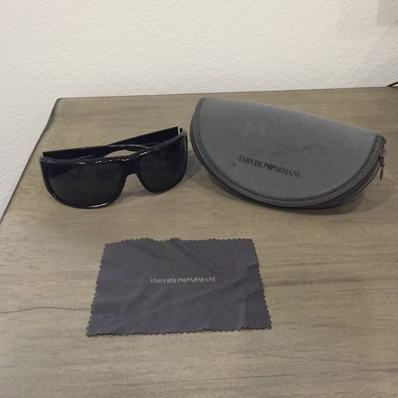 319f41cf8dc0 Emporio Armani MENS Sunglasses Authentic Emporio Armani Sunglasses for Men.  Black. May need some adjustment to fit your face. NO scratches.