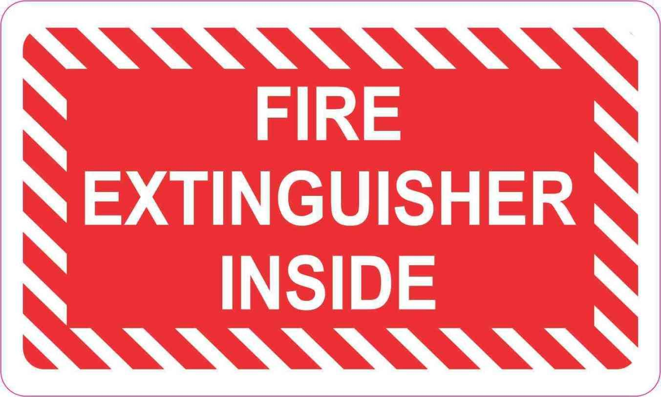 5in X 3in Fire Extinguisher Inside Magnet Stickertalk Fire Extinguisher Extinguisher Fire