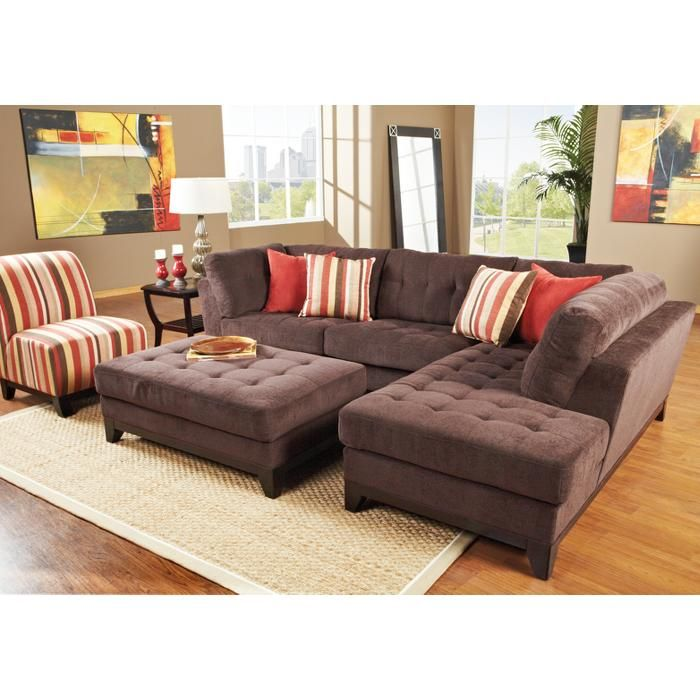 Love But Not A Fan Of Brown Red Would Be Better Living Room Sectional Living Room Sets Brown Living Room Decor