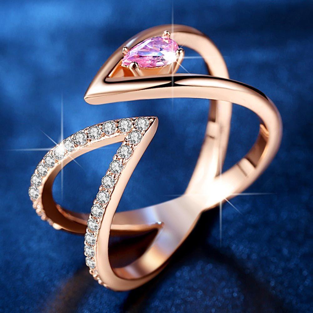 Cluster rose gold ring mac cynna shop now