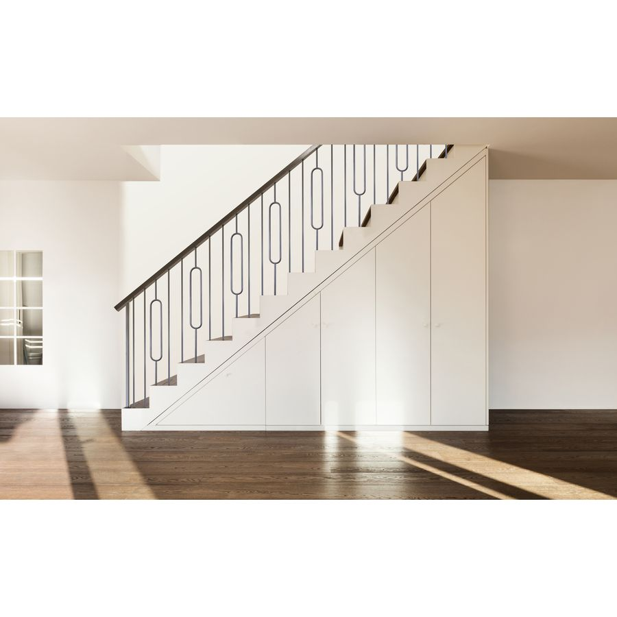 House Of Forgings Hollow 44 In Satin Black Wrought Iron Classic | House Of Forgings Aalto | Stair Parts | Aalto Modern | Aalto Collection | Wrought Iron Baluster | Handrail