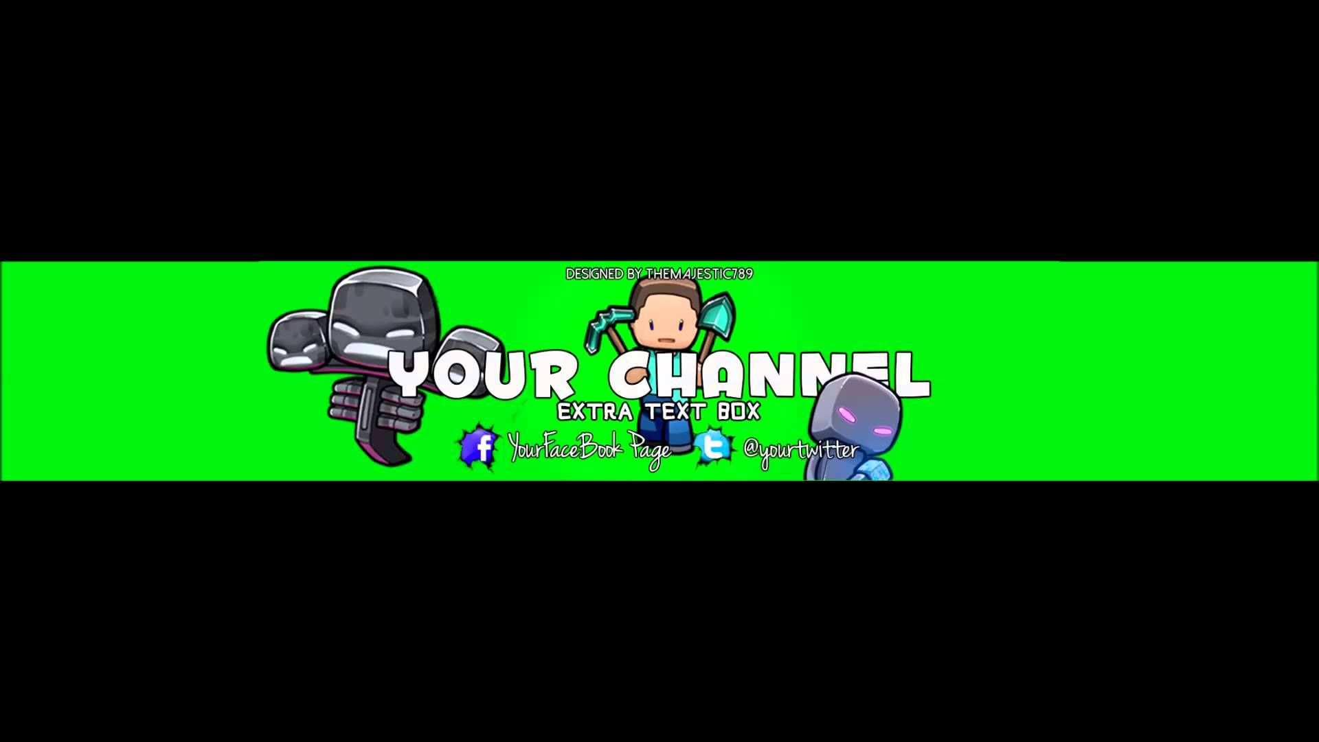 Minecraft YouTube Banner Template | CCHILIGER123 | Pinterest