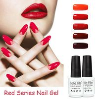 BELLE FILLE UV Gel Polish Varnish Red ColorS for Choice Vampire Red Wine Series Nail Cosmetic Art Manicure vernis semi permanent