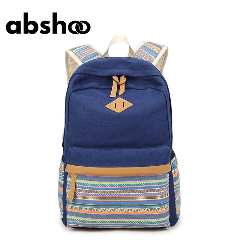 Backpacking Backpack For Teenage Girls School Bags Cute Canvas ...